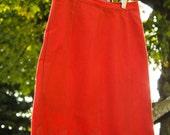 SALE! Autumn Orange Vintage Wool Skirt