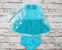 Baby Elsa Dress(6M-2T),Frozen Party Dress,  Frozen dress, Elsa costume, Elsa frozen dress,  Frozen party outfit for Kids(6M-2t)
