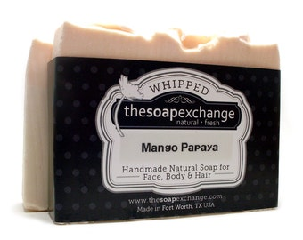 Mango Papaya Soap, Mango Soap, Papaya Soap, Whipped Bar Soap, Natural Soap, Handmade Soap, Scented Soap, The Soap Exchange