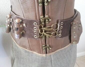 Leather Alchemist's Belt