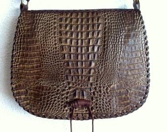 Bag Gaucho Crocodile print