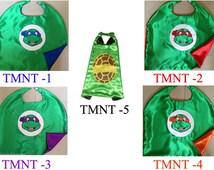 NINJA TURTLES Cape - TMNT - Teenage Mutant Ninja Turtles, Satin capes, turtle cape, Ninja Turtle party favors