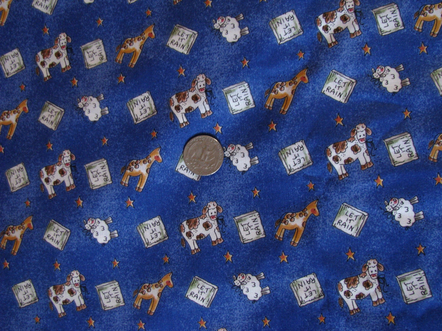Animals fabric for kids colorful cotton let it rain fabric for Animal print fabric for kids