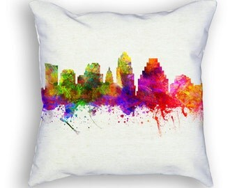 Austin Texas Throw Pillow, 18x18, Cushion Home Decor, Gift Idea, Pillow Case 02