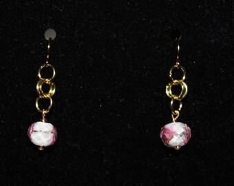 Pink Floral Earrings