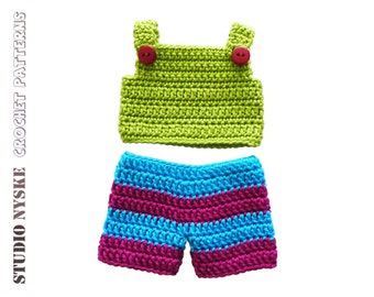 Doll clothes GIRL crochet PATTERN LARGE 3 dress by StudioNyske