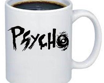 Psycho Norman Bates inspired Hand painted Ceramic Mug