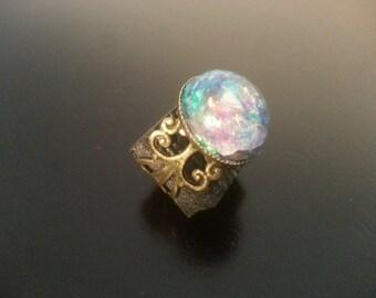 Handmade Water Faerie Dust Ring, Fairy Ring, Fairie Ring, Fae Ring