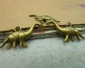 15pcs 12x27mm Antique Bronze Lovely Mini 3D Dinosaur Charms Pendant C2899