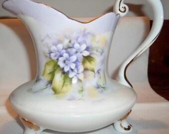 Limoges Ewer - Hand-painted Violets