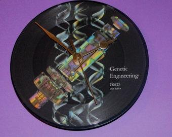 "O.m.d genetic engineering 7"" vinyl picture disc clock"