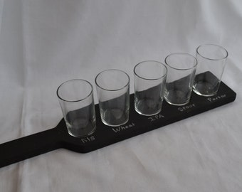 Handmade Chalkboard Beer Flight Paddle