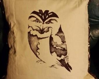 Tawny Frog Mouth Cushion