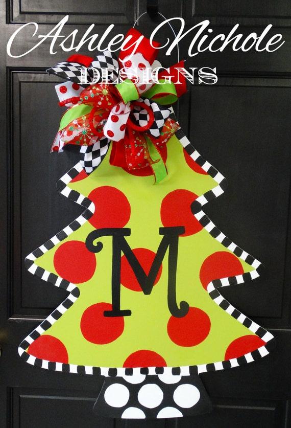 Christmas Tree Door Hanger Christmas Door By