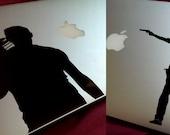 The Walking Dead Daryl Dixon Rick Grimes Silhouette TV Logo Vinyl Decal Bumper Sticker Graphic for Car Laptop Macbook Motorbike Green