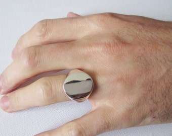 XXL Large Oxford Oval signet ring