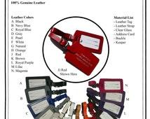 Wedding Escort Favor Leather Luggage Tag (SBOT) ** Imprints purchased separately