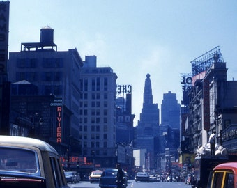 New York City 1960's from 35mm Kodachrome slide