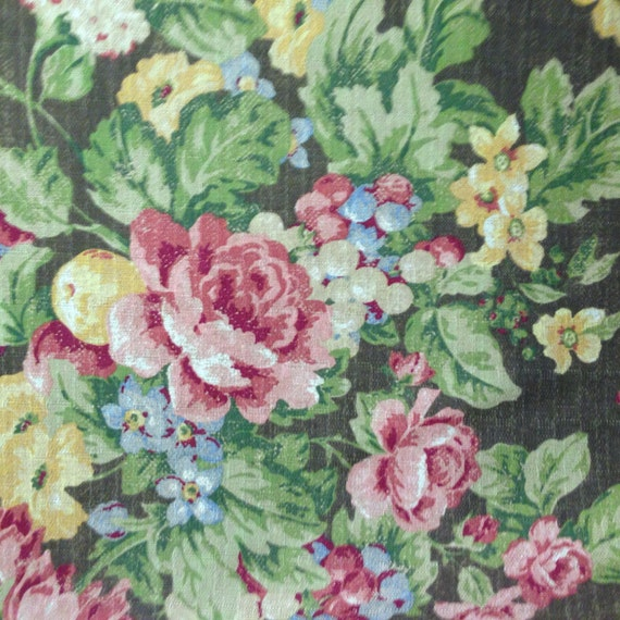 Floral French Country Fabric Drapery and Upholstery