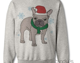 french bulldog christmas sweater popular items for frenchie on etsy 9216