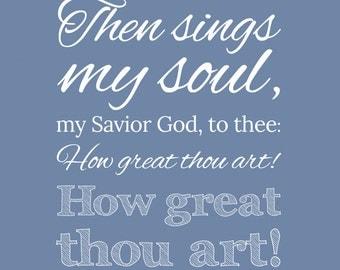 Custom Hymn Print