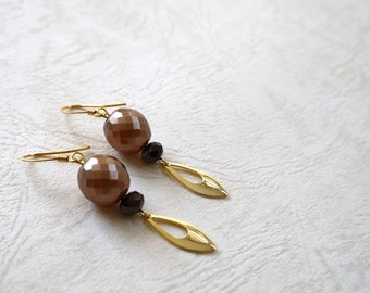 Czech Beads, Gold Color, 14k gold Plated Earring Wires/Clip On Earrings