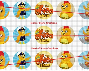 The Chica Show Bottle Cap Image Sheet
