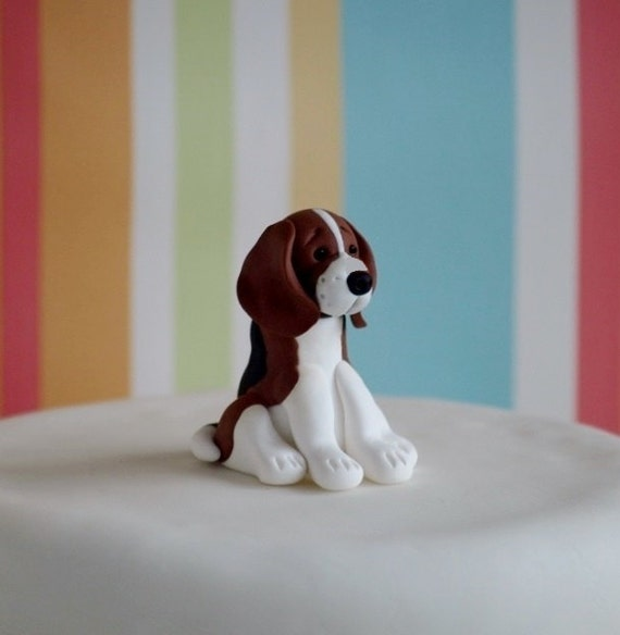 Beagle Wedding Cake Topper
