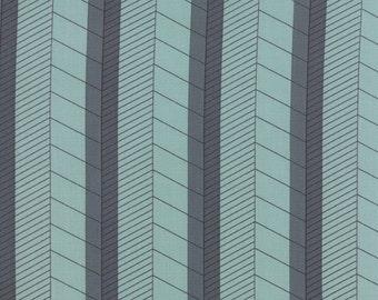 Nomad Fabric from Urban Chiks for Moda Fabrics.  Terrain Stripe in Sky Blue