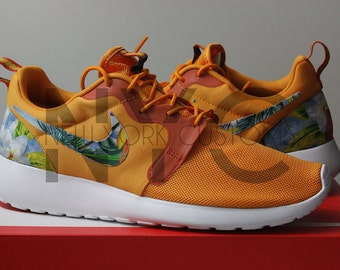 jverp Nike Roshe Run Hyperfuse Bright Mango/Magnet Grey by NYCustoms