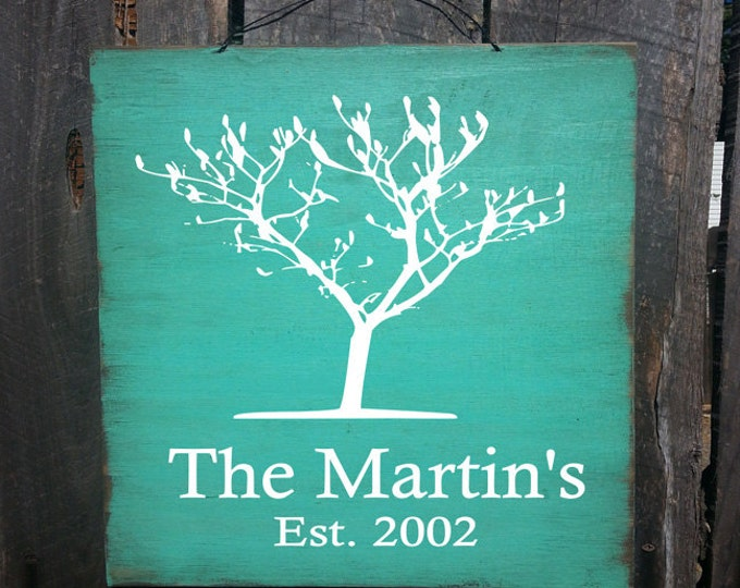 personalized family tree sign, personalized family name sign, established sign, established decor, personalized established sign, 3