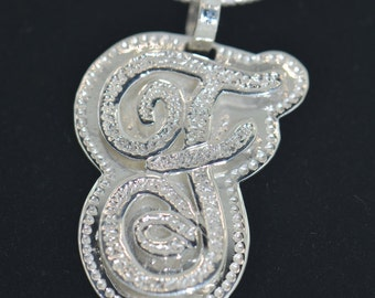 925 Sterling Silver Initial Pendant