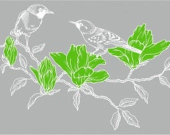 Window film Birds on branch