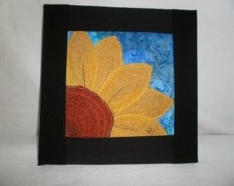 Sunflower! created from recycled silk and embroidery