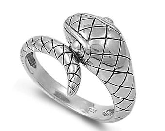 Snake Ring 15MM Sterling Silver 925