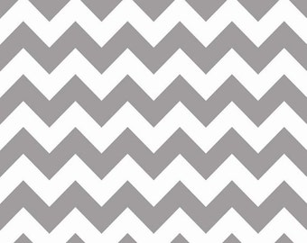 Riley Blake Sparkle Chevron Grey Gray Silver (Half metre)