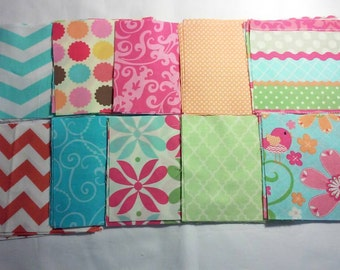 Charm pack 30 squares 3 squares of each print 5x5 inches