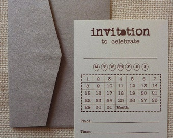 Calendar Invitations 10 Pack