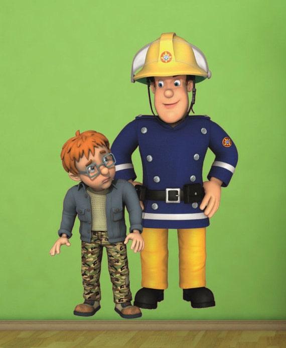 Chambre de pompier sam et norman wall sticker par - Chambre garcon pompier ...