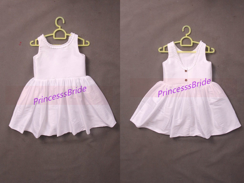 Latest white taffeta flower girls dresses hotsimple cheap