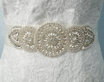 Wedding Belt, Bridal Belt, Bridal Sash Belt, Crystal Rhinestone Belt, Style 115