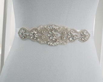 Wedding Sash, Bridal Belt, Wedding Sash Belt, Crystal Rhinestone Belt, Bridesmaid Sash, Style 147