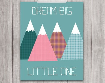 Dream Big Wall Art 8x10 - Nursery Decor, Nursery Art, Digital Download, Dream Big Print, Printable Quote, Baby, Wall Art