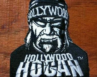 Vintage  Hollywood Hulk Hogan Embroidered Patch WWF WWE Wrestling Patch