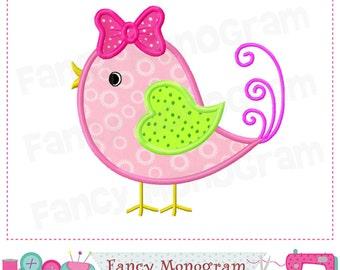 Valentine's day,Bird applique,Valentine's applique,Spring Bird applique,Bird embroidery,Spring applique,Girl applique,