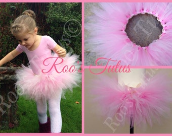 Pink fluffy ballet tutu. Multi tonal and super full! Handmade Pixie-cut tutu