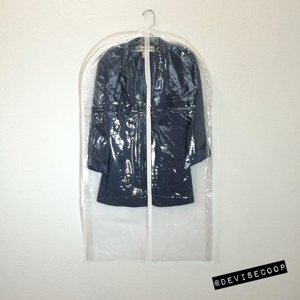 Garment Bag Suit Breathable Back Clear Vinyl Front By