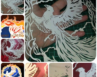 Cut your own Phoenix -PERSONAL Use Template for Papercutting - mythology fire bird