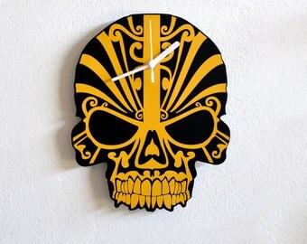 Tribal Skull - Wall Clock