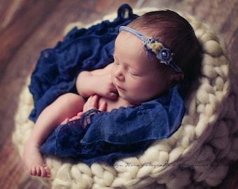 Wollkorb Newbornfotografie